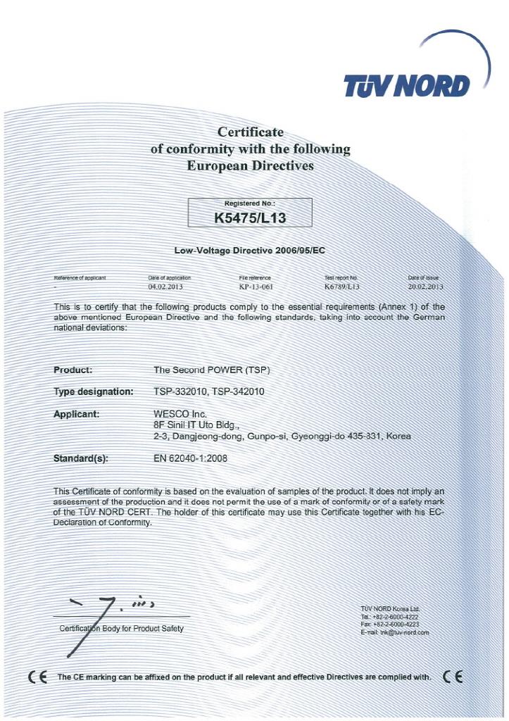 Wesco Voltage Sag Compensation Tsp